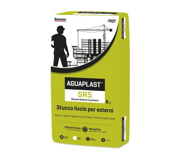 Aguaplast SR5 Stucco Liscio Bianco per esterni Kg.6
